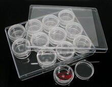 8SEASONS 1 Set (12PCs) Clear Beads Display Storage Box 30mmx17mm (B06223)