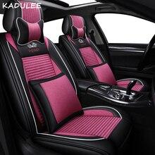 KADULEE, cubierta de asiento de coche de lino para ssangyong kyron y rexton korando actyon, cubiertas de asiento de automóviles, protector para asientos de coche