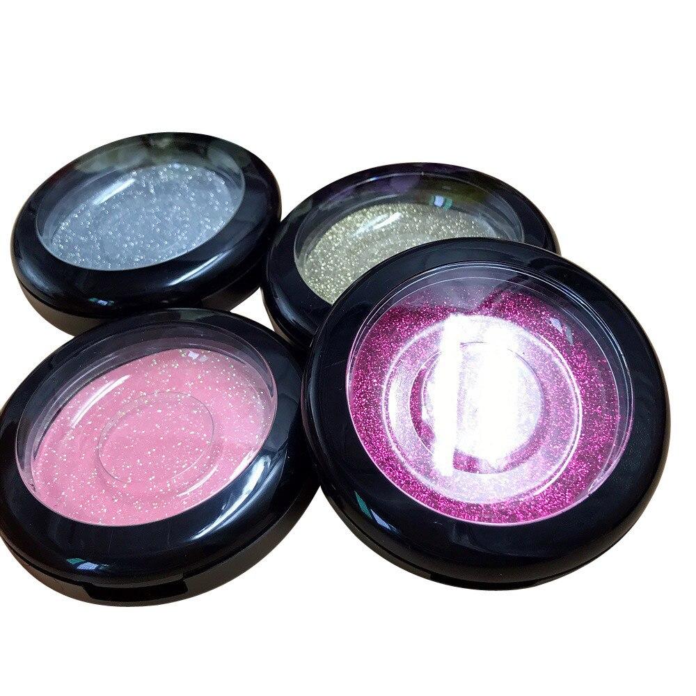 Nuevo 1pc color plástico aleatorio profesional Caja de almacenaje para maquillaje magnético No imán extensión de pestañas postizas caja de belleza caso SE8
