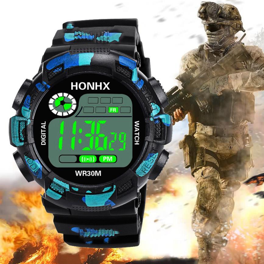 Reloj Digital militar de camuflaje para hombre, relojes de pulsera electrónicos LED...