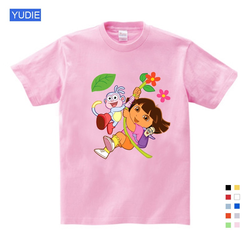 Girl t shirt pink Summer kids Clothing Casual t Shirts Funny Children Tops New T Shirts Short Sleeve t-shirt Tees Baby Funny tee