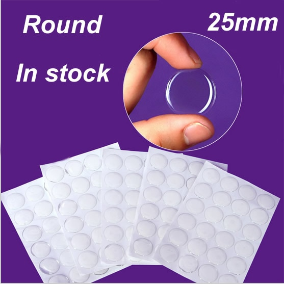 10 uds, cúpulas de resina epoxi redondas transparentes, pegatinas de 25mm para fotos, joyería artesanal (K05338)