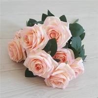 10 heads artificial roses bouquet 44cm wedding decoration flowers rose home decoration accessories fake flower bouquet