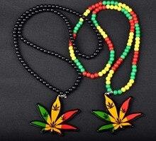 Dropshipping Hiphop Hemp Pendant Necklace Men Jewelry Long Bead Chain Bijoux Gift Collares Bijouterie