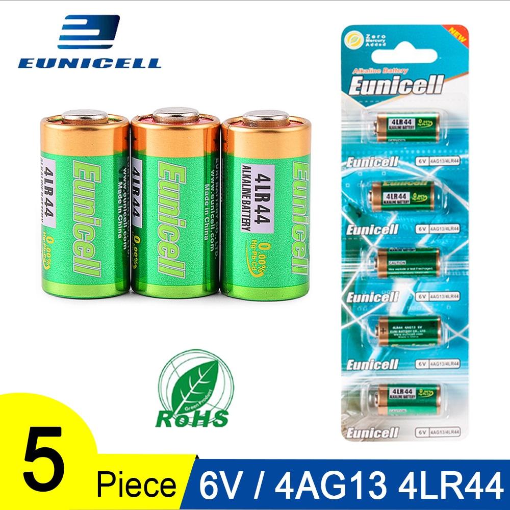 5 шт. 1 карта 6В 4AG13 щелочная батарея первичные и сухие батареи 4LR44 A544V 4034PX PX28A L1325 544 4A76 для игрушек калькулятор