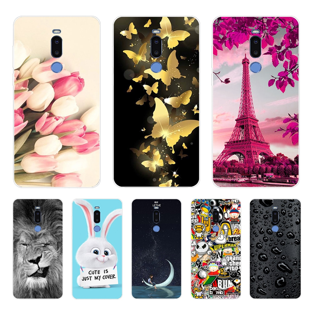 meizu note 8 Case,Silicon Colorful petals Painting Soft TPU Back Cover for meizu meizu m8 note shell