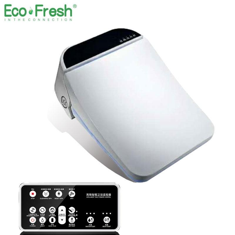 Ecofresh-مقعد مرحاض ذكي ، غطاء بيديت ، مع التنظيف والتجفيف والتدليك والعناية والتدليك