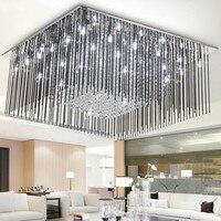 Hotel Banquet Square led Ceiling Lights G4 LED Brilliant Glass rod Led Ceiling fixtures Luminaria For Bedroom Living Room Villa