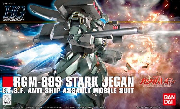 Bandai Gundam 1/144 HGUC RGM-89S STARK JEGAN Mobile Suit Action Figures Assemble Model Kits toy
