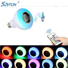 Ampoule LED E27 Lampada Bluetooth ampoule RGB lampe avec son haut-parleur lecteur de musique Audio LED intelligent 220 V 110 V Bombilla