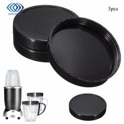 Neue Ankunft 3 stücke Kunststoff Schwarz Tasse Deckel Mixer Teile Ersatz Für 250 Watt Für Magie Für Kugel Entsafter Langlebig qualität