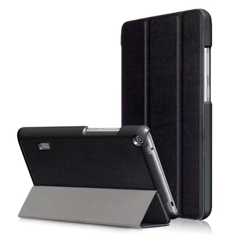 "Caso Para Huawei MediaPad T3 7.0 BG2-W09 7 ""casos Capa Protetora Inteligente LeatheTablet para Honor Play Pad 2 7.0 PU Protetor Manga"