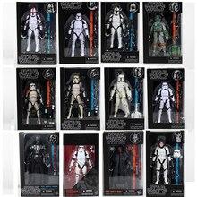 12 Types Star Wars la série noire Boba Kylo Phasma dark Maul dark vador Hab Solo figurine jouet
