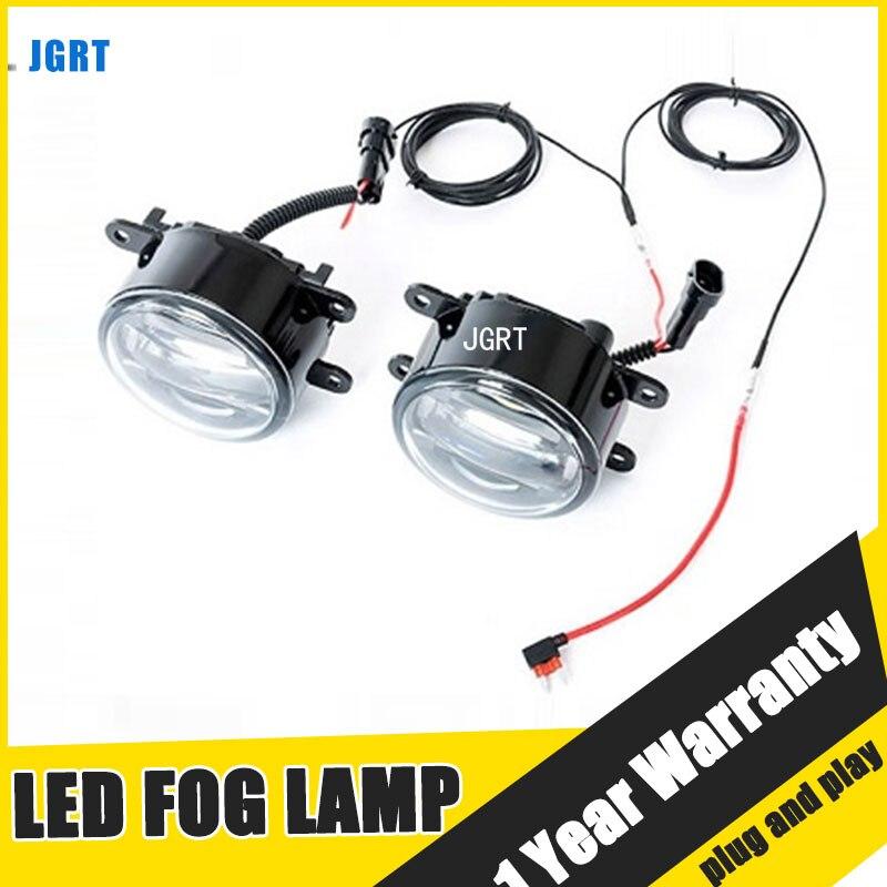 JGRT estilo de coche llevó la lámpara de niebla 2006-para Citree C4 LED DRL luz corriente diurna alta baja y haz accesorios para automóviles