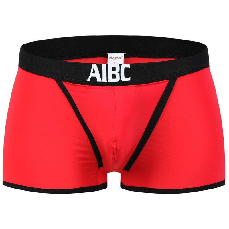 Nuevo AIBC ropa interior Sexy para Hombre Ropa interior de Nylon de seda bóxer ropa interior Gay Hombre Pantalones cortos divertidos bóxer