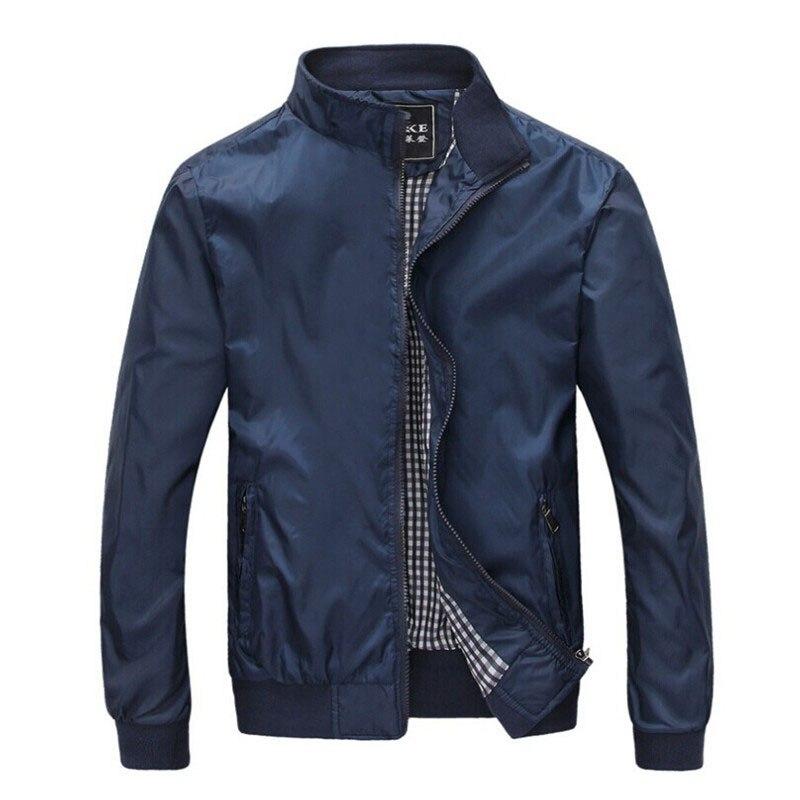 Gran tamaño 4XL 5XL chaquetas para hombre Primavera Verano Casual Delgado rompevientos masculino Bombardero de La Universidad negro Windcheater Hommes Varsity chaqueta