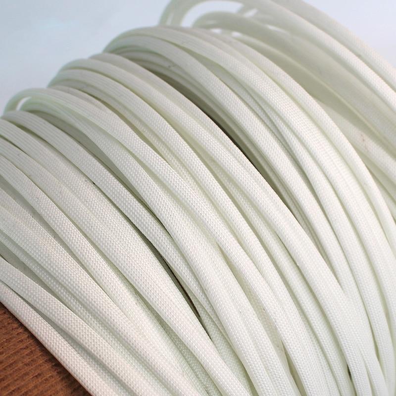 600 Deg High Temperature Braided Soft Chemical Fiber Tubing Insulation Cable Sleeving Fiberglass Tube 1M 1-25mm Diameter