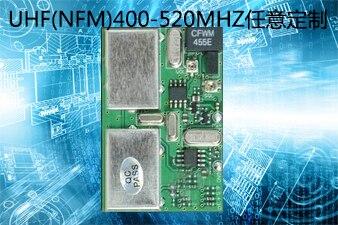 UHF Band Interphone receiver module, UHF wireless voice receiver board, high sensitivity FM narrowband FM receiver board
