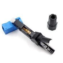 200 Stks/partij Sc Upc Fiber Optic Snelle Snelle Connector Blauw Fibra Ftth Single Mode Sc Snelkoppeling Sc Adapter