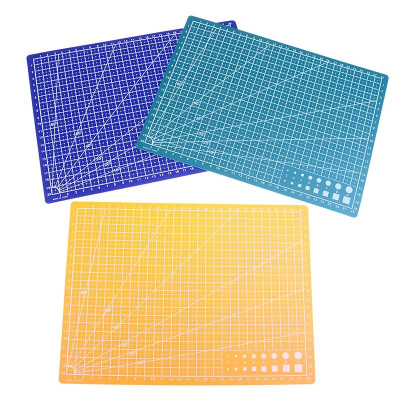 1 ud. 30*22cm A4 líneas de rejilla esterilla de corte autocurativa tarjeta artesanal tablero de papel de tela de cuero gran oferta