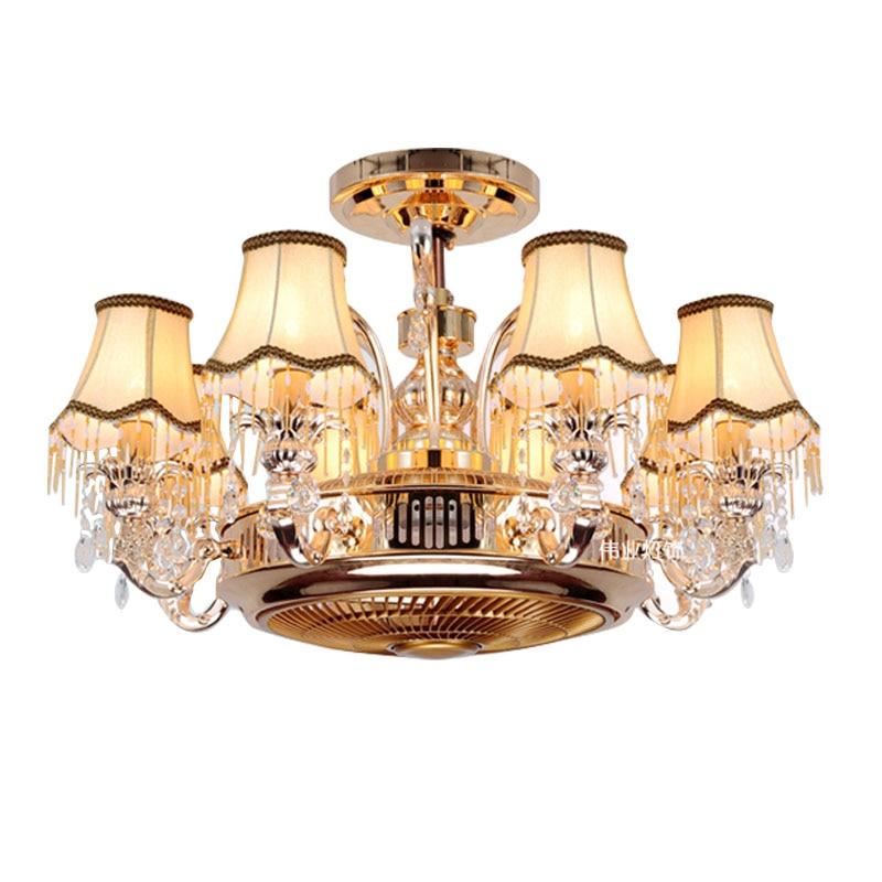 Luces colgantes nórdicas para sala de estar, lámpara led musical con Bluetooth, purificación de aire, luz de ventilador invisible para dormitorio, luz de ventilador de techo