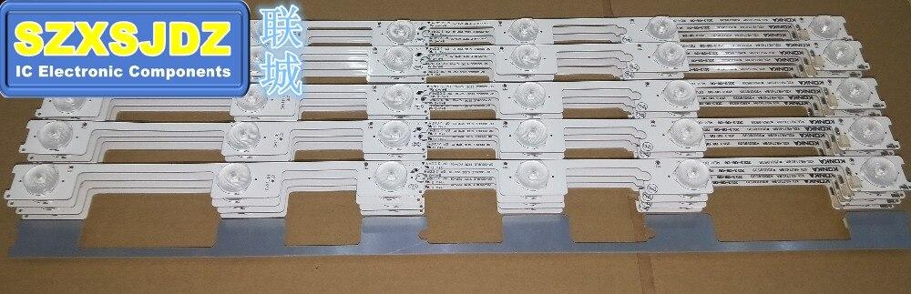40pçs/lote 100% nova de barra de tira led de retroiluminación para konka kdl48jt618a kdl48ss618u 35018539, 35018540 6 luz led (6 v) 442mm
