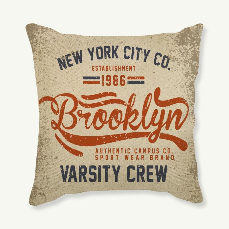 Housse de coussin en coton et lin 45x45cm   Pour canapé, coussins décoratifs, taie doreiller pour canapé et voiture