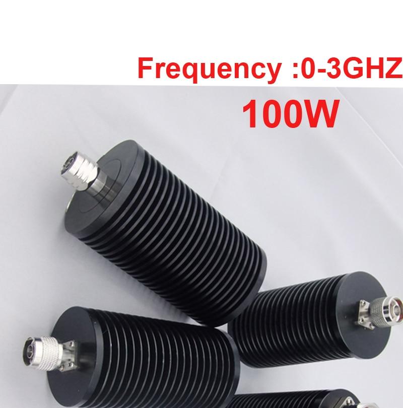 Peças telecom carga 100 W de potência RF coaxial N macho 0-3 ghz alimentador cabo conector jack cabo coaxial carga conversor de Comunicação