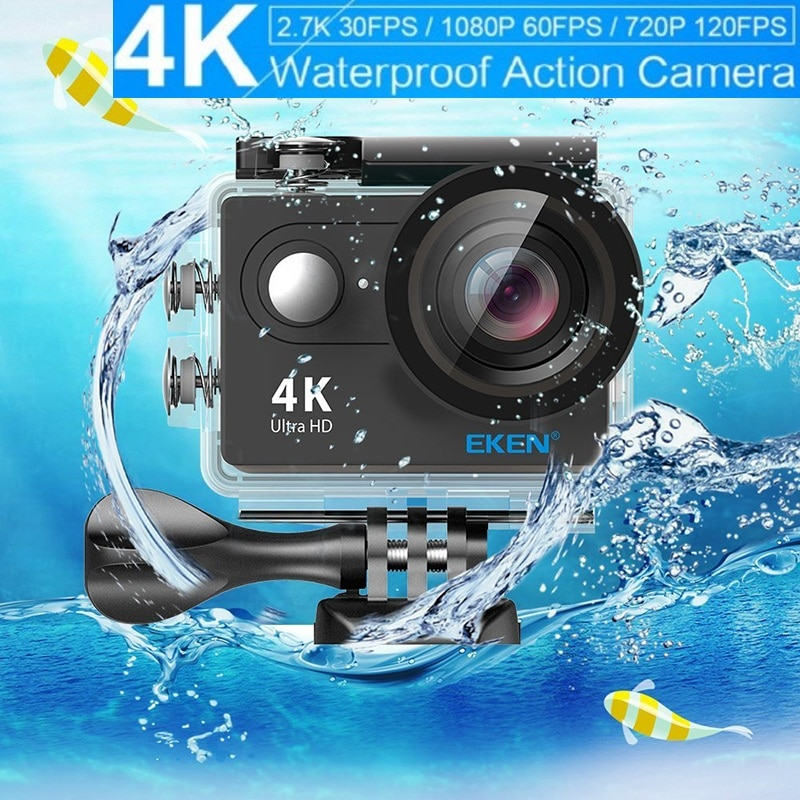 Cámara de acción Original EKEN H9/H9R, cámara remota Ultra HD 4K 1080P/go 60fps, cámara impermeable WiFi 2,0 LCD, lente 170D, cámara deportiva profesional