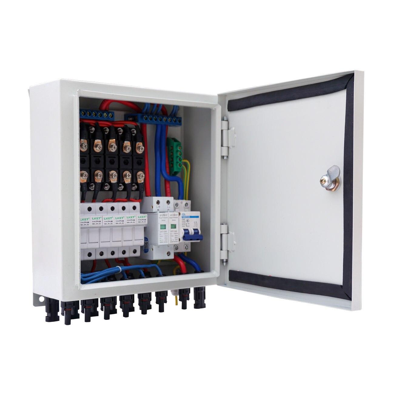 Caja de combinador Solar 60A de 6 cuerdas ECO-WORTHY para el Kit de Panel Solar de RV de barco doméstico residencial