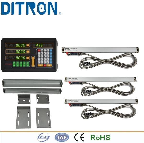 3 Axis Leitura Digital Dro Torno/Máquina miling 3 pcs codificador Linear Régua para Medir