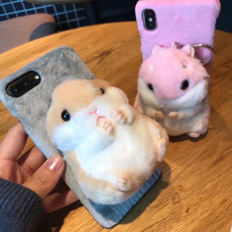 Hamst de piel caso para Iphone 11 Pro Max 11pro XS 8 más 7 6s lindo caliente suave cubierta de la caja del teléfono para Iphone XR XS MAX SE 5S