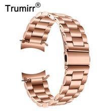 Trumirr bracelet en acier inoxydable + Clips en métal pour montre Samsung Galaxy 42mm SM-R810/R815 bracelet en or Rose