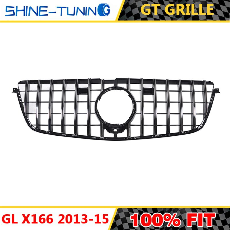 Grade dianteira para gl classe x166 gt gtr grille gl x166 amg gl500 gl550 gl63 suv vermelho gl grille 2013-15