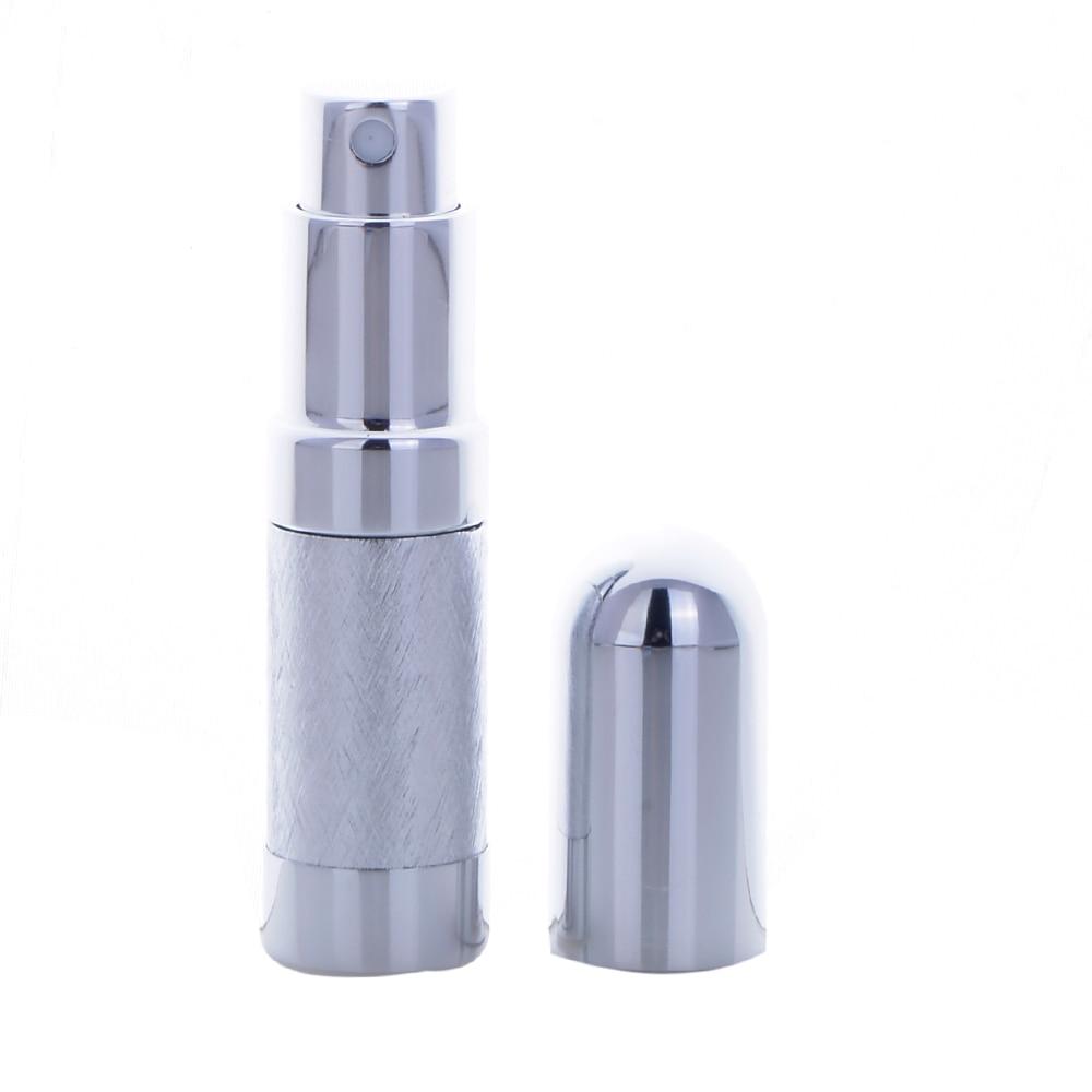 Alta calidad 6ML 6 colores Mini viajero vacío Metal aerosol recargable portátil Perfume atomizador botella y envases cosméticos vacíos