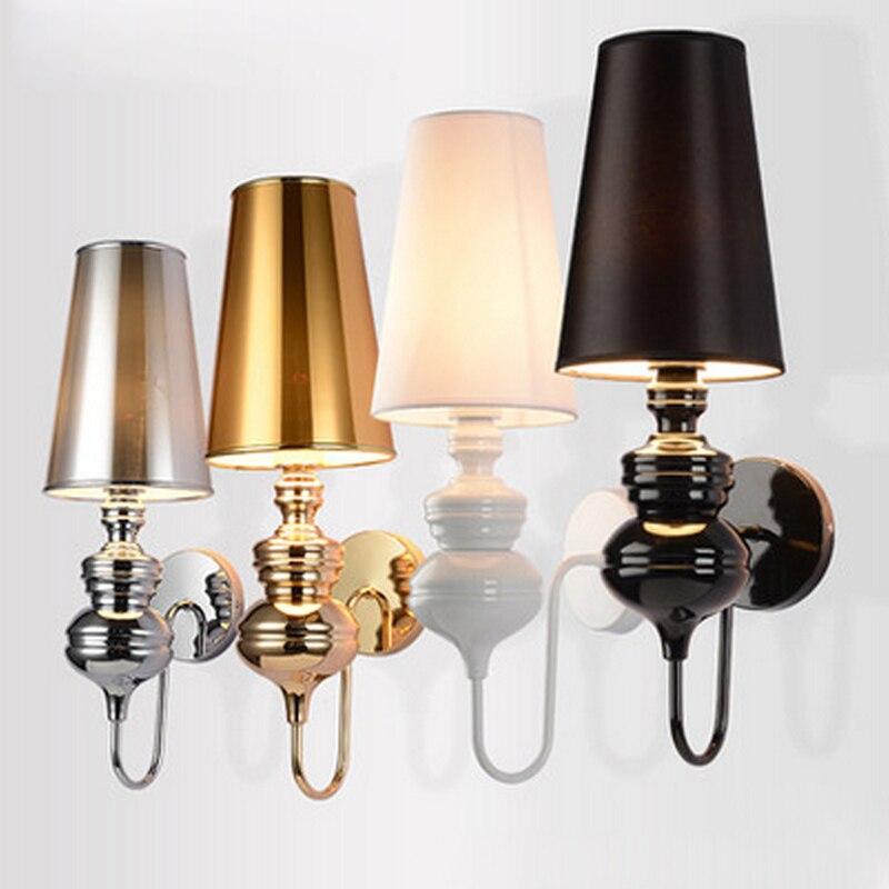 Modernas luces de pared para dormitorio, estudio, lámpara de noche simple, creativas lámparas de pared de salón E27, aplique de pared para cocina ZBD0040