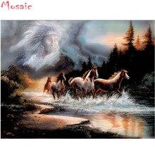 Peinture fantaisie 5D fait maison avec des strass   Bricolage, peinture fantaisie avec broderie diamant, cheval, décor pour la maison