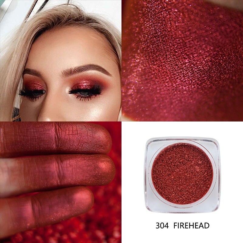 12 colores brillo ojo maquillaje brillo polvo impermeable de larga duración rojo oro rojo con oro rojo blanco azules de fiesta de paleta