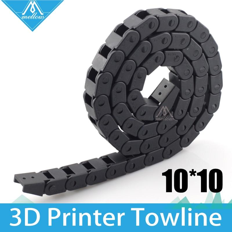 Горячий! Лучше всего! Кабель 10x10 мм L1000мм, переноска для проводов с концевыми коннекторами для инструментов 3D принтера