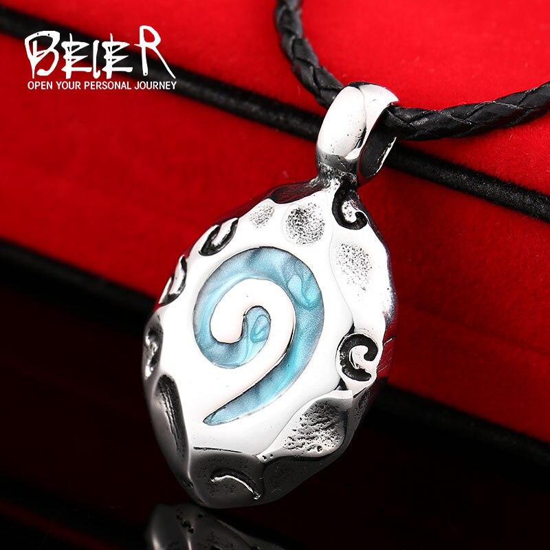 WoW World Of Warcraft Hearthstone verre pendentif rond collier à breloques bijoux fins chaîne à maillons en Bronze BP8-178