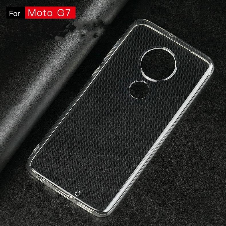 Transparent Silicon Case for Motorola Moto G7 for Moto G7 Plus for Moto G7 Play for Moto G7 Power Anti-knock Phone cover Cases