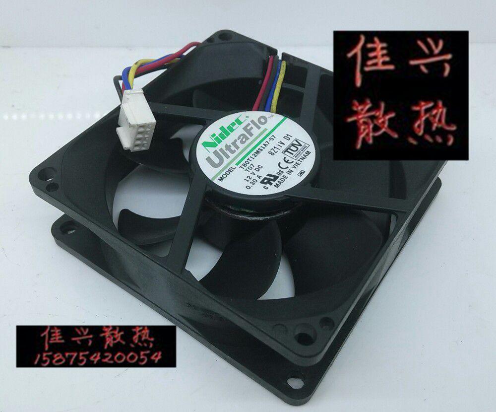 8 cm 8025 12 V cuatro 0,30 línea de temperatura/ventilador del gabinete de control T07 T80T12MS1A7-57