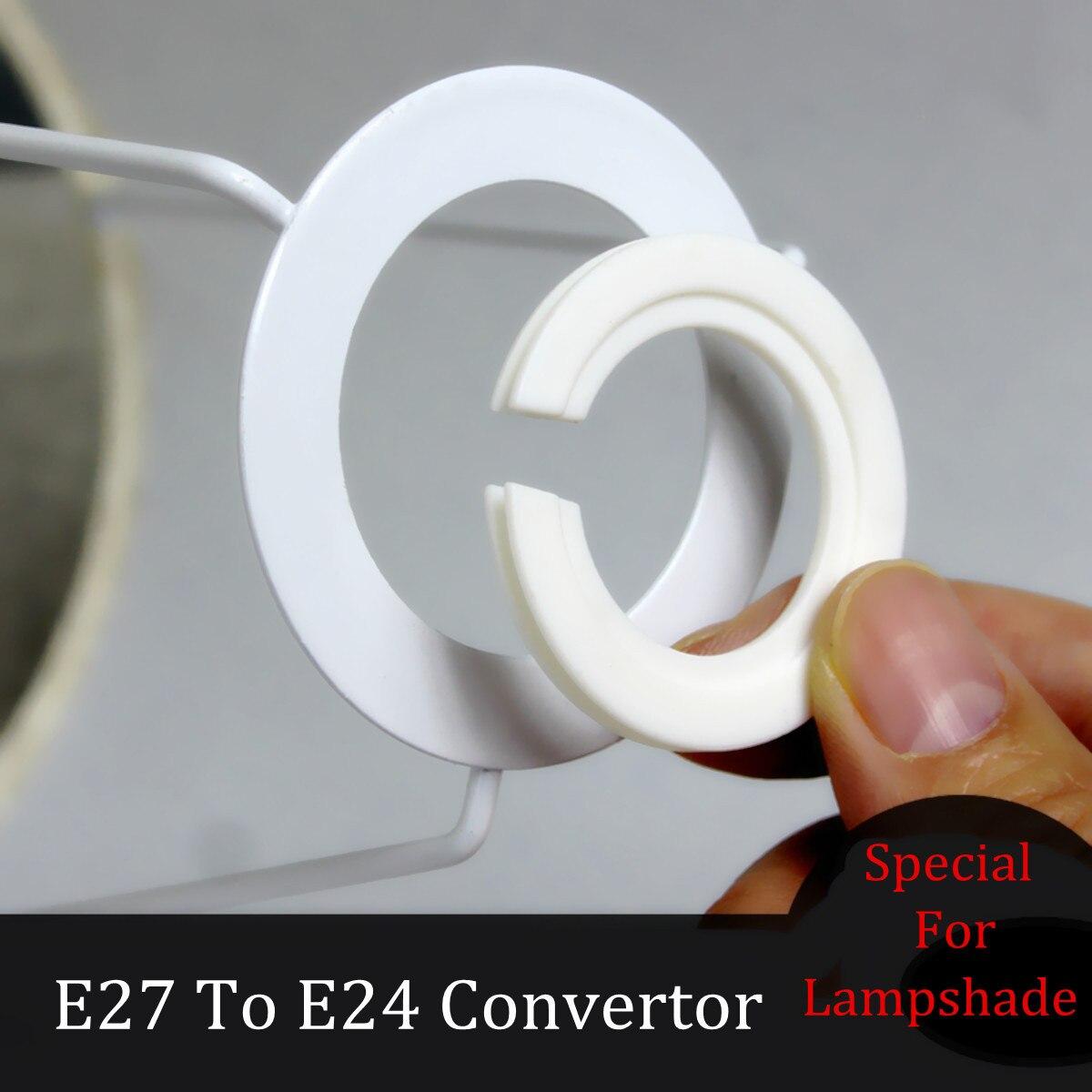 Abat-jour anneau adaptateur lampe abat-jour douille réduction anneau adaptateur rondelle pour E27 à E14 abat-jour accessoires