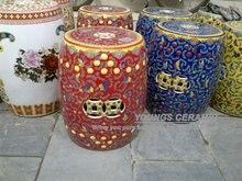 Colorful Famille Rose Ceramic Round Seat Stool