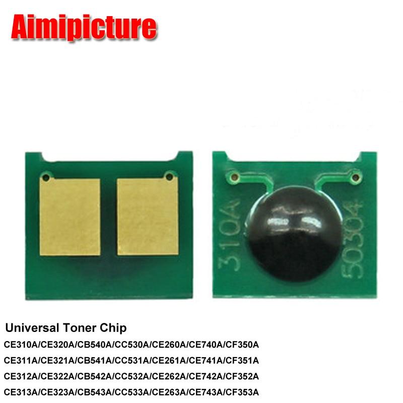 CE310A/CE320A/CE260A/CE740A/CB540A/CC530A универсальный картридж с тонером для чипа принтера HP BK/C/M/Y 5 комплектов 20 шт./лот