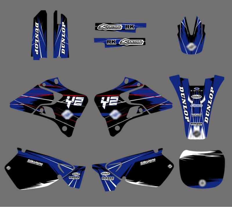 Графика и фоны наклейки Наборы для Yamaha YZ125 YZ250 1996 1997 1998 1999 2000 2001 YZ 125 250