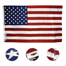 High Quality Double Sided Printed Polyester American Flag Grommets Fade Resistant USA flags and bann