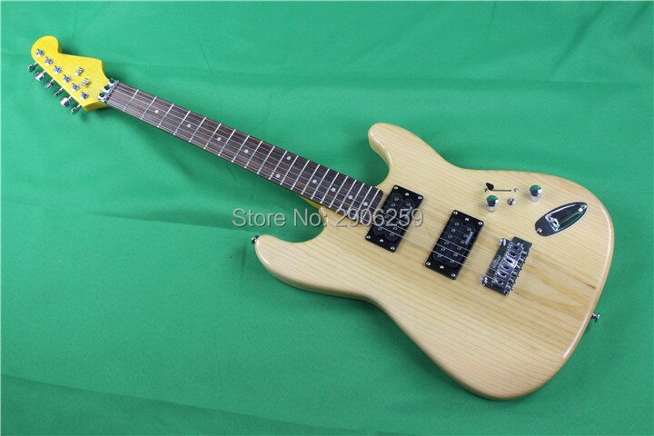 Hot sale ash wood electric guitar,humbuckers pickups. wilkinson pickups and bridge .customization version