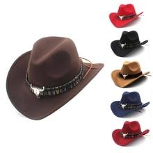 Ethnic Style Western Cowboy Hat Women's Wool Hat Jazz Hat Western Cowboy Hat Hot Selling