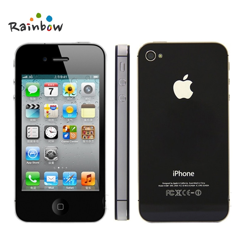 Apple iPhone 4S Original de fábrica desbloqueado 3,5 Pantalla 16 GB/32 GB de almacenamiento Dual Core teléfonos celulares